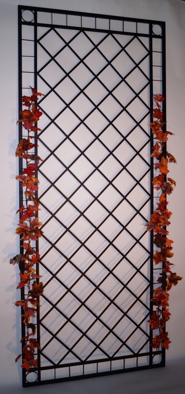 spalier metall eisen rankgitter rankhilfe wandgitter meran 120 240 xxl schwarz gartengestaltung. Black Bedroom Furniture Sets. Home Design Ideas