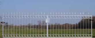 Metall Eisen Stahl Gartentor Hoftor Tor Imperia-FT400/100S FeuerVerzinkt – Bild 1