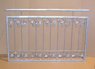 Balkongeländer Französischer Balkon Monaco-FB80/100  Metall Feuer Verzinkt – Bild 1