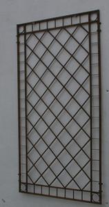 Metall Eisen Spalier Rankgitter Rankhilfe Wandgitter Meran 80 Rost Rostig – Bild 1