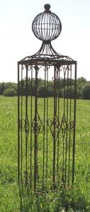 Rankgitter Rankhilfe Spalier Rosen Clematis Obelisk KENT XL Roh ROST 165 – Bild 2