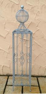 Rankstab Rankhilfe Pfosten Obelisk Garten KENT Zink 145 cm Feuer Verzinkt – Bild 4