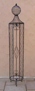 Rankstab Rankhilfe Rankgitter Obelisk Wells XXL 225 Schwarz für Clematis – Bild 1