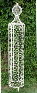Rankstab Rankhilfe Rankgitter Obelisk Wells XXL 225cm Weiß für Kletterrose – Bild 1