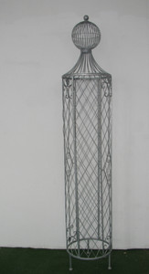 Garten Rankstab Rankhilfe Pfosten Obelisk Wells XXL 225cm Feuer verzinkt – Bild 1