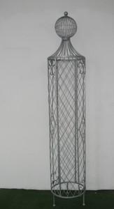 Garten Rankstab Rankhilfe Pfosten Obelisk Wells XXL 225cm Feuer verzinkt