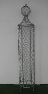 Garten Rankstab Rankhilfe Pfosten Obelisk Wells XXL 225cm Feuer verzinkt – Bild 5