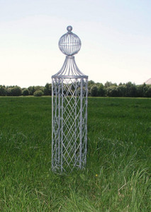 Rankstab Rankhilfe Rankgitter Rosengitter Obelisk Wells XL Feuer Verzinkt – Bild 1