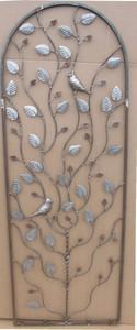 Landhaus Rankgitter Spalier Aragella Roh Rost Blätter silber – Bild 1