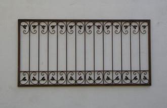 Schmiedeeisen Zaun Zäune Eisen Monaco-Z80/150 Rost – Bild 1