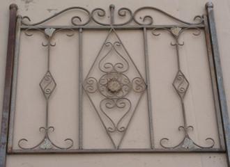 Schmiedeeisen Zaun Rankzaun Vitoria-Z 100 cm roh Rost Antik – Bild 1