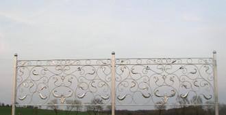 Zaun Zäune Metall Schmiedeeisen Gartenzaun Vigola Feuer verzinkt – Bild 5