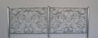 Schmiedeeisen Eisen Zaun Zäune Metall Tor Lisbao Feuer Verzinkt 150 cm – Bild 1