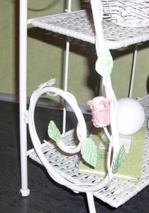 Blumenregal Regal Eisenregal Romantisch Venezia 100 cm – Bild 5