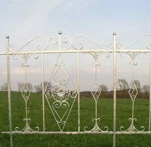 Schmiedeeisen Zaun Rankzaun Vitoria-Z 100 cm Verzinkt – Bild 1