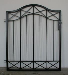 Gartentür Tür Tor Pforte Crossline-GT100/110 schwarz – Bild 2