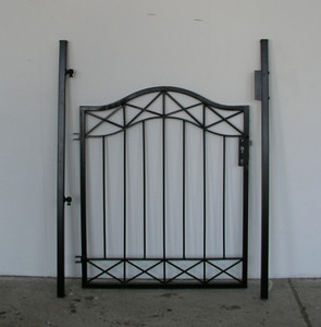 Gartentür Tür Tor Pforte Crossline-GT100/110 schwarz – Bild 5