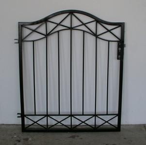 Gartentür Tür Tor Pforte Crossline-GT100/110 schwarz – Bild 1