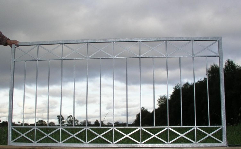 Gartenzaun Metall Modern Zaun Zaune Balkon Tor Crossline Z120 200