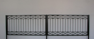 Gartenzaun Metall Modern Zaun Zäune Balkon Tor Crossline-Z120/200 Feuer Verzinkt – Bild 1