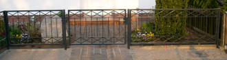 Gartenzaun Metall Modern Zaun Zäune Balkon Tor Crossline-Z120/200 Feuer Verzinkt – Bild 3