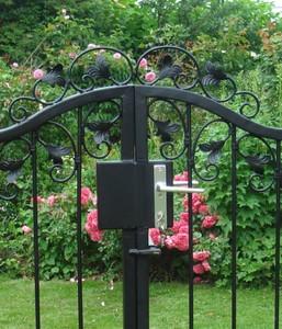Gartentür Gartentor Tor Pforte Metall Monaco-GT170/100S Schmiedeisen verzinkt – Bild 14