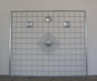 Riesen XXL Sichtschutz Rankwand Rankgitter Diamond 214/186 FeuerVerzinkt