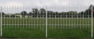 Schmiedeeisen Zaun Eisenzaun Gartenzaun Metallzaun  Cassel-Z100/200 Verzinkt – Bild 4