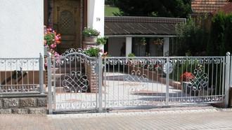 Gartentor Hoftor Tor Monaco-GFT400/80 Verzinkt Zink – Bild 2