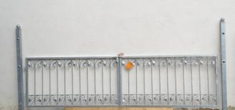Gartentor Hoftor Tor Monaco-FT300/80R Riegel roh – Bild 1