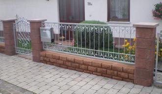 Eisenzaun Schmiedeeisen Metallzaun Gartenzaun Monaco-Z140/200 FeuerVerzinkt Zink – Bild 5