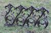 Beetbegrenzung Beeteinfassung Gotika Schwarzgold 50cm 001
