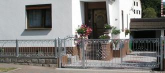 Gartentor Hoftor Tor Metall Schmiedeeisen Monaco-GFT500/120A Verzinkt m Antrieb – Bild 5
