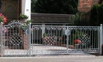 Elektrisch Gartentor Hoftor Tor Schmiedeisen Metall Monaco-GFT400/100A Verzinkt – Bild 3