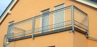 Balkongeländer Terasse Französischer Balkon Monaco-Z120/200  Feuer Verzinkt – Bild 1