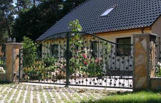 Hoftor Gartentor Tor Schiebetor Bachus-GTSR500 Verzinkt – Bild 6