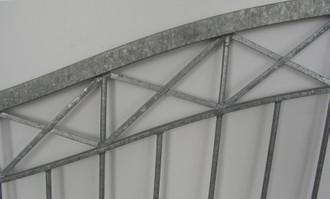 Massiv Gartentor Hoftor Einfahrtstor Metall modern Tor Crossline-GT500 Verzinkt – Bild 4