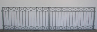 Gartentor Hoftor Tor Crossline-FT400/80A Verzinkt – Bild 1