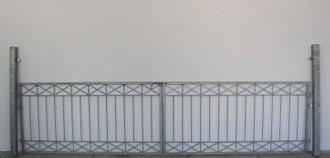 Gartentor Hoftor Tor Metall modern Crossline-FT400/120A FeuerVerzinkt Torantrieb – Bild 5