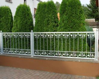 Schmiedeeisen Zaun Zäune Eisen Gartenzaun Metall Monaco-Z80/200 Verzinkt 200 cm – Bild 3