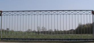 Hoftor Gartentor Schiebetor Crossline-FTS400/100 Zink – Bild 1