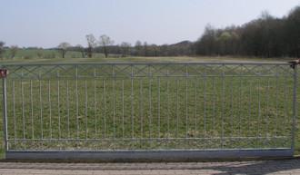 Hoftor Gartentor Schiebetor Crossline-FTS400/100 Zink – Bild 7