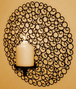 Wand Kerzenhalter Eisen Designobjekt Tirano braun – Bild 3