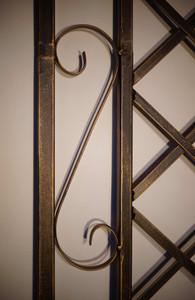 Rankgitter Spalier Rankhilfe Wandgitter Metall Provence schwarz Gold Rosengitter