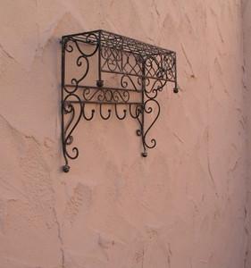 Wandregal Landhaus Eisen Schmiedeeisen Nostalgie Verona3 Antikbraun – Bild 1