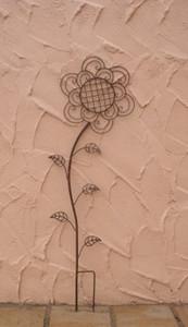 Rankgitter Rankstab Rankhilfe Flower Rost – Bild 1