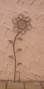 Rankgitter Rankstab Rankhilfe Flower Rost – Bild 6