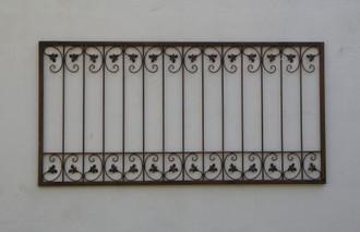 Schmiedeeisen Eisenzaun Zaun Zäune Monaco-Z120/150 Rost – Bild 1