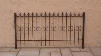 Schmiedeeisen Zaun Eisen Gartenzaun Antik  Cassel-Z100/200 Roh Rost rostig – Bild 1