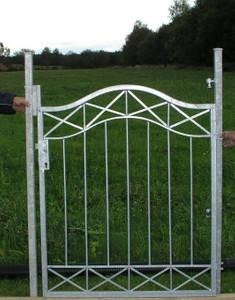 Gartentür Tür Tor Pforte Crossline-GT100/108 Verzinkt für PU – Bild 1